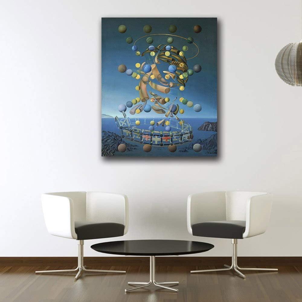 SDFSD Salvador Dali Galatea de Las esferas Pintura al óleo Arte de la Pared Pinturas Cuadro Paiting Lienzo Pinturas Decoración para el hogar Impresión Pintura 40X50CM
