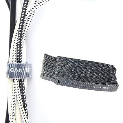 dcdb9bb1aafc Ganvol (30 Pack) 4.5 Inch Short Small Self Gripping Hook & Loop Cable Ties