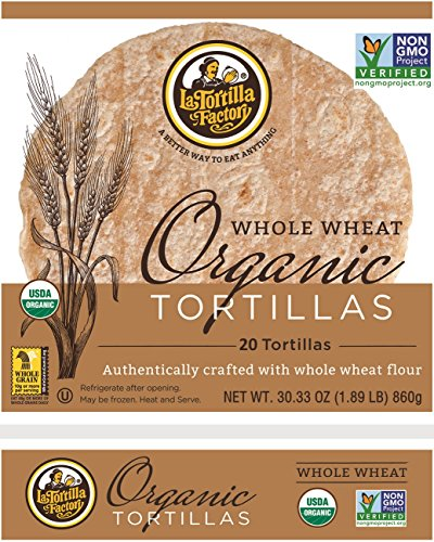 La Tortilla Factory Whole Wheat Organic Tortillas 30.33oz (20 Tortillas) (Best Whole Wheat Tortillas)