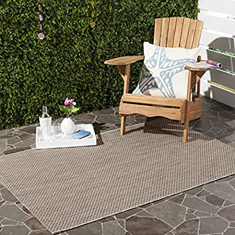 Safavieh Courtyard Collection CY8521-36312 Beige and Brown Indoor/ Outdoor Area Rug (4' x 5'7