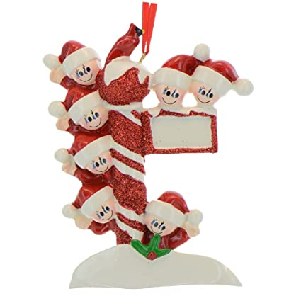 72ae0230045 Personalized Street Post Family of 7 Christmas Ornament for Tree 2018 -  Children Friend in Santa