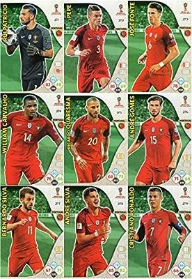 Adrenalyn XL FIFA World Cup 2018 Completo 9 Tarjeta Portugal Equipo Set: Amazon.es: Deportes y aire libre