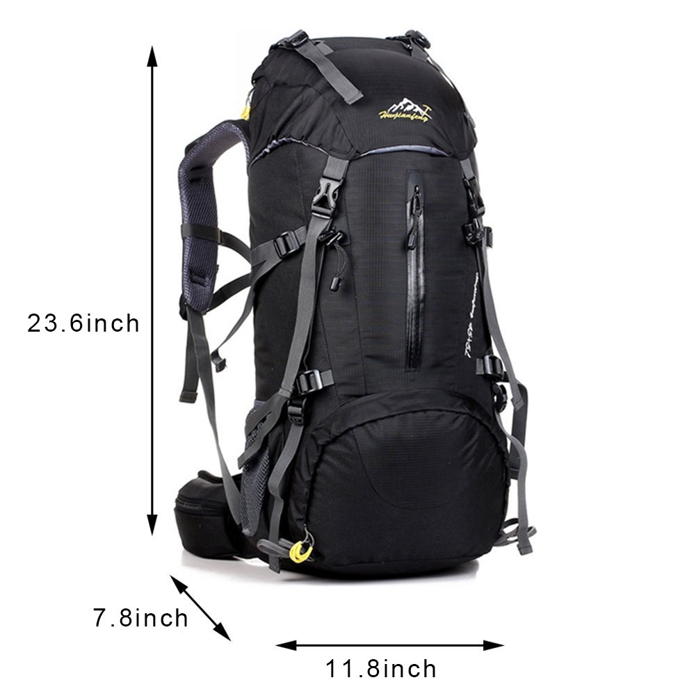 Amazon.com   COUTUDI 50L(45+5) Sport Waterproof Outdoor Daypack Backpack  with Rain Cover for Hiking Camping Climbing Mountaineering Camping Fishing  Travel ... cfd8ad06c9c8d