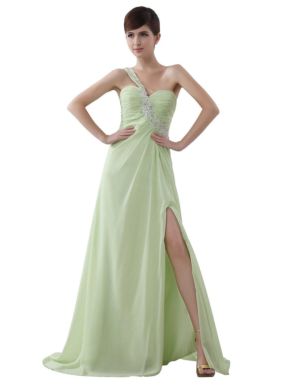 Sarahbridal Womens Chiffon Prom Dresses Long 2019 Beaded Bridesmaid Ball Gowns