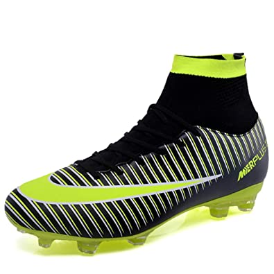 d1955b023939 FCSHOES FG TF Soccer Shoes Long Spikes High Top Ankle Football Boots Outdoor  for Boys Girls