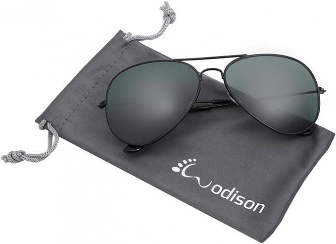Classic Aviator Fashion Sunglasses For Mens Womens Retro Silver-Mirrored