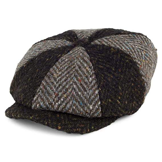 Failsworth Hats Magee Donegal Tweed Newsboy Cap - Black-Grey 55 ... 034a66cbe550