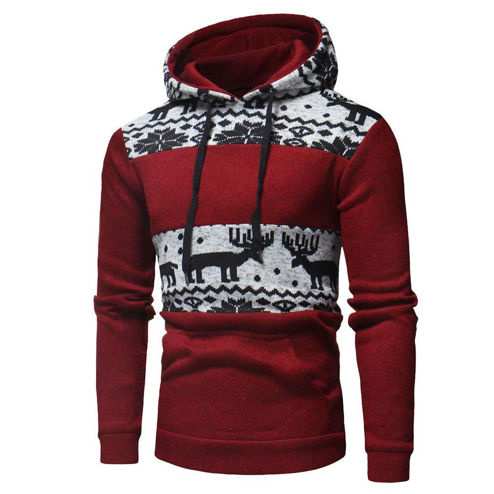 Amazon.com: Easytoy Mens Christmas Hoodies Hooded Sweatshirt Xmas Tops Jacket Coat Outwear: Sports & Outdoors