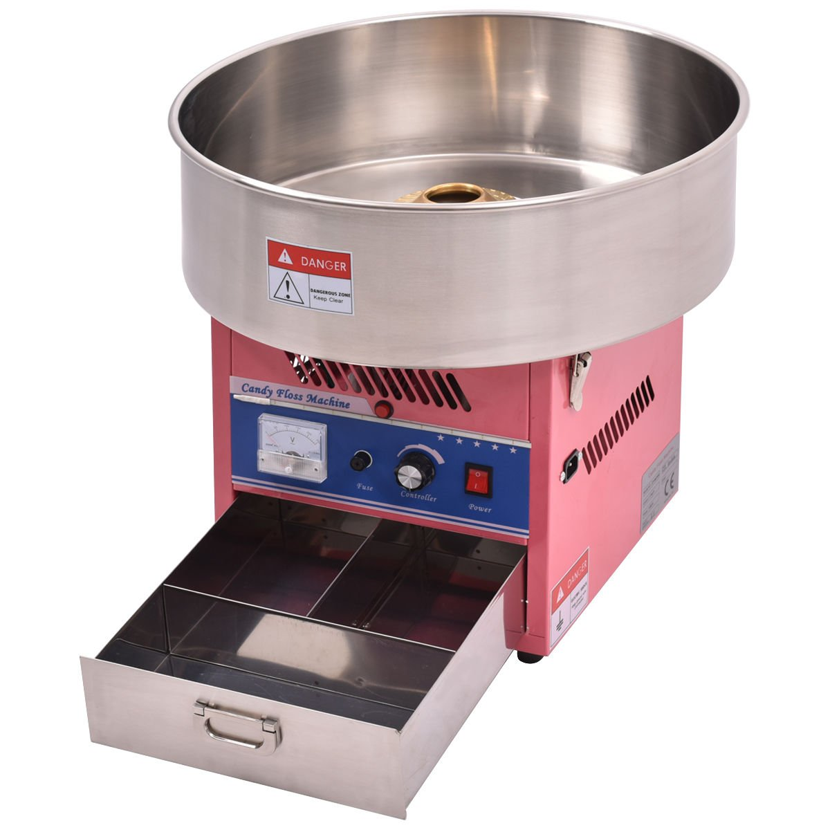Giantex Electric Cotton Candy Machine Floss Maker Commercial Carnival Party Pink by Giantex (Image #3)