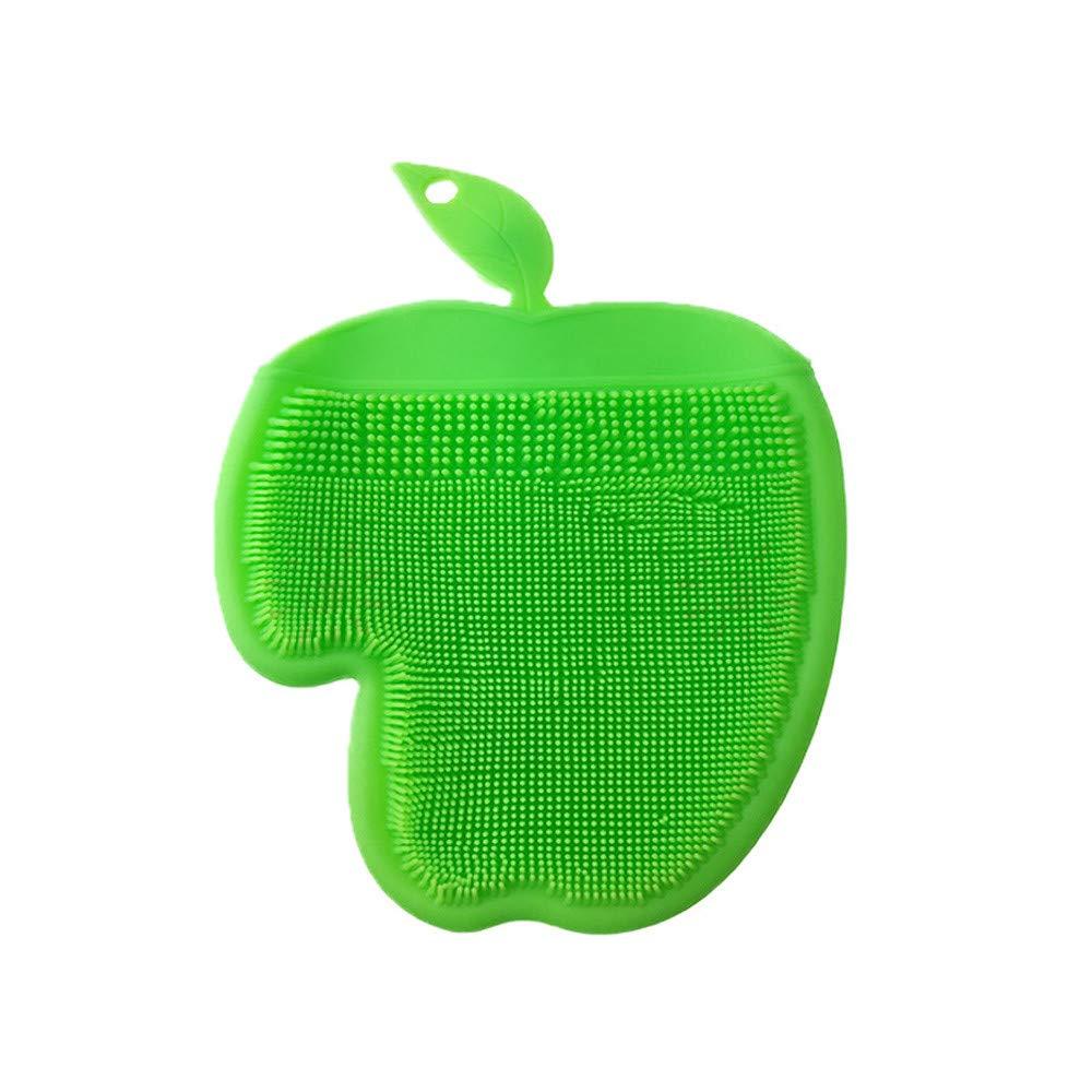 certainPL マジック再利用可能なシリコンクリーニングブラシグローブ - 耐熱スクラバー 多目的 - キッチン 浴室 食洗機 ペットケア B07HR6XZG8 グリーン