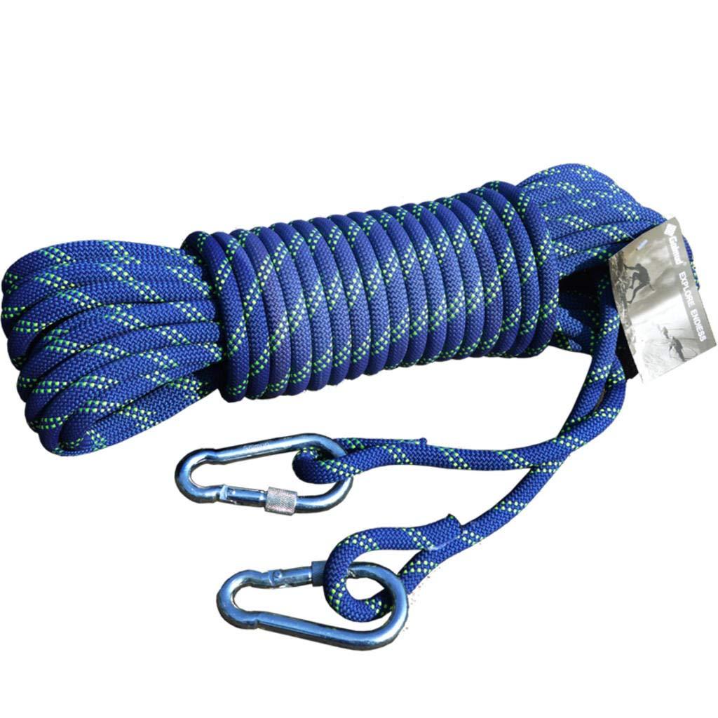 ROBAG ロッククライミング 補助ロープ ナイロン 空中作業 スピードドロップ クライミングロープ 6mm / 8mm / 10.5mm / 12mm 直径 B07GD2H78C 6mm50meters|ブルー ブルー 6mm50meters