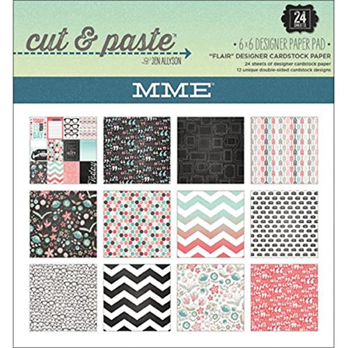 My Mind's Eye Cut and Paste Paper Pad, 6 by 6-Inch, Flair