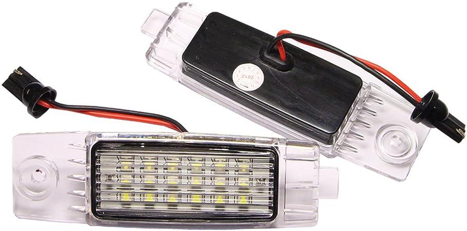 Nrpfell 2Pcs LED Number License Plate Light Lamp for Hiace S.B.V//Highlander//RAV4//Land Cruiser 200 RX300 XB