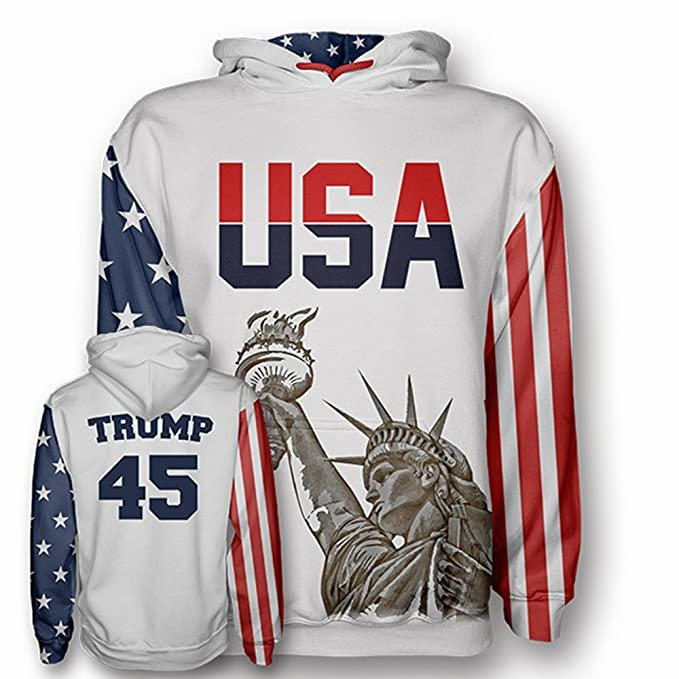 USA White Trump  45 Football Jersey by Greater Half  (Small-4XL ... 744666e74