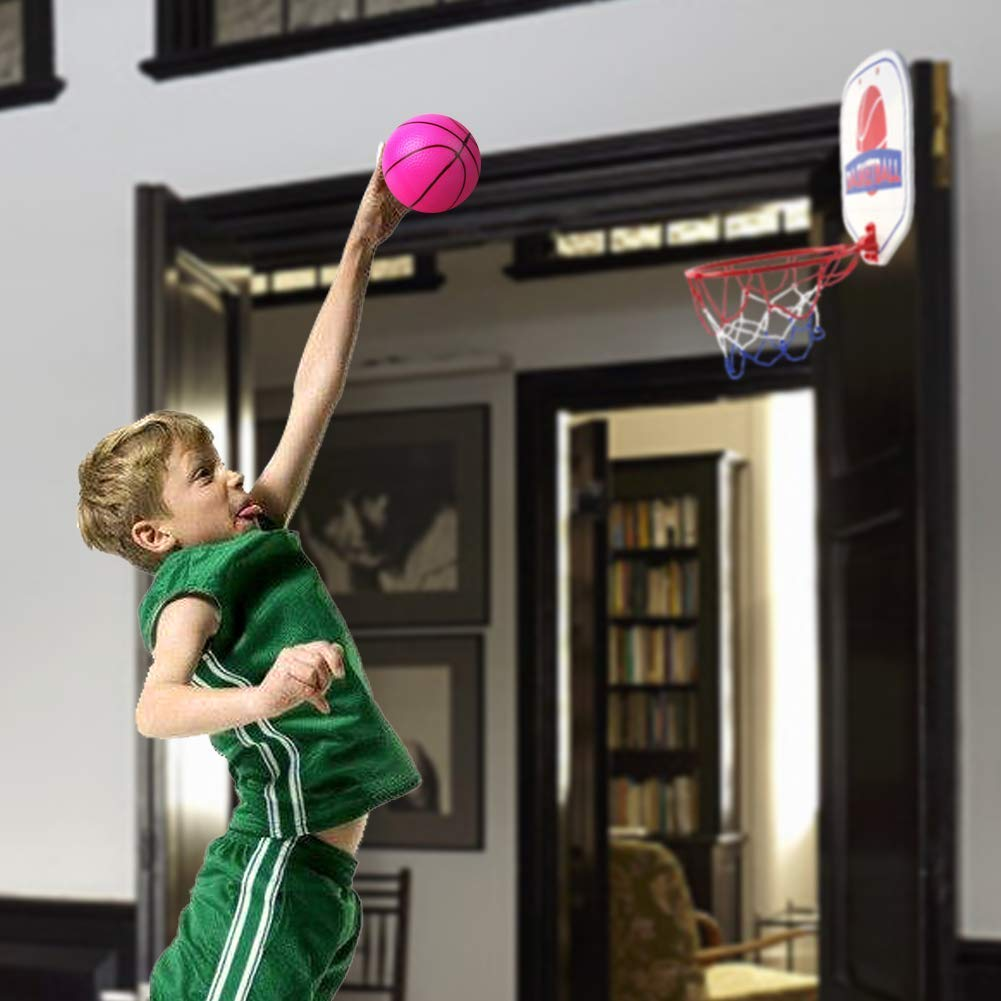 Akokie Basketball Hoop Mini Basketball Net Indoor Ball Pump Kids Girls Boys 3 4 5 6 Years Old