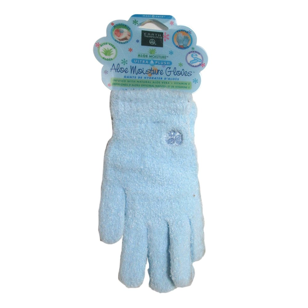Earth Therapeutics Aloe Moisture Gloves Blue - 1 Pair 140348