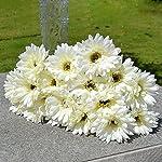 Silk Flower Arrangements 10x Silk Gerbera Daisy Artificial Flowers Bouquet Home Wedding Decoration