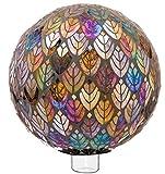 """Evergreen Garden Baroque Splendor Mosaic Glass Gazing Ball - 10""""L x 10""""W x 10""""H"""