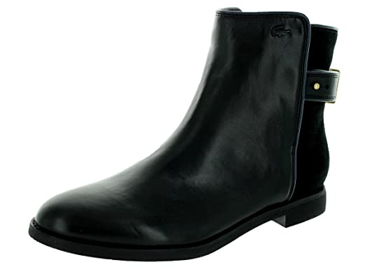 fcf70c236 Amazon.com  Lacoste Women s Rosemont Chelsea SRW Black Boot 9  Shoes