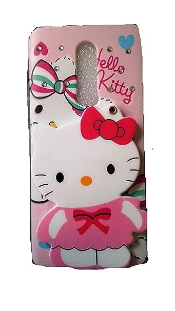 24d5a2e2e Mobcruz Mirror Hello Kitty Back Case Cover For One: Amazon.in: Electronics