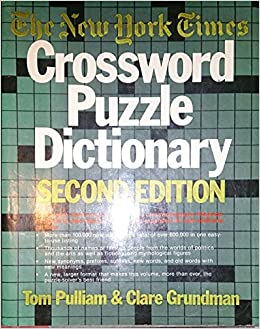 2nd ed New York Times Crossword Puzzle Dictionary