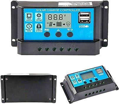 LCD 30A PWM Solar Panel Regulator Charge Controller 12V//24V 360W//720W Dual USB