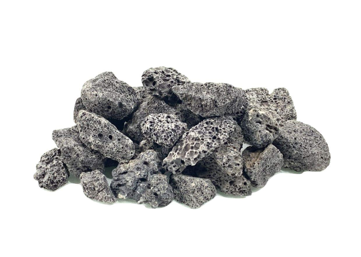 """Executive Deals All Natural Lava Rocks for Gas Fire Pits/Fireplace/Grills/Barbecues - 3/4"""" Inch, Available in Black/Red - 10 LBS or 40 LBS"""