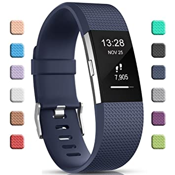 Gogoings para Correa Fitbit Charge 2 Pulsera Ajustable Correa de Reemplazo Deportivo Compatible con Fitbit Charge2 para Mujeres Hombres (Sin Reloj): ...