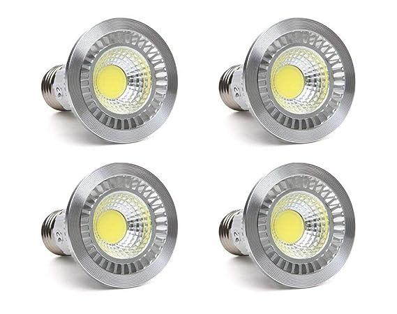 ctkcom 5 W LED COB Inundación bombilla PAR16/HR16 LED bombillas (4 unidades)-bombillas de luz de inundación Downlight ...
