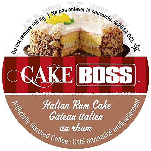 - Cake Boss Italian Rum Cake Flavored Single Serve Coffee - 24 Count