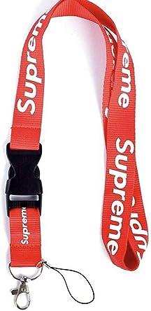 Urban Fashion Streetwear Cordón, correa para el cuello llavero para llaves, bolsas y accesorios - Rojo - talla única: Amazon.es: Ropa y accesorios