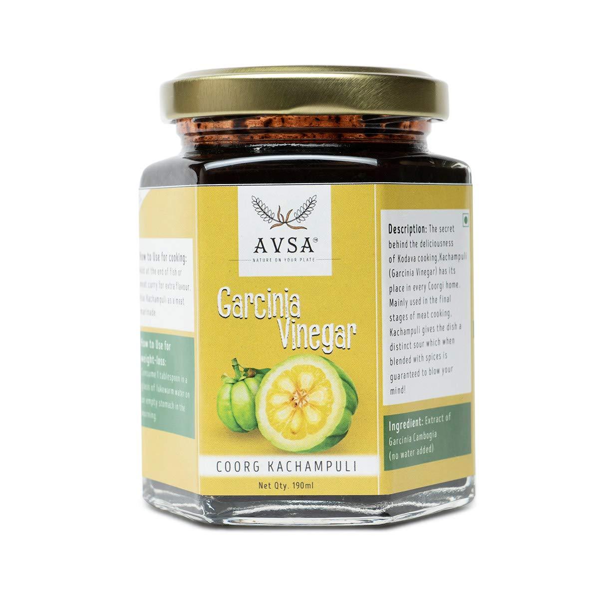 Avsa Garcinia Vinegar (Coorg Kachampuli) - 190 ml Kachampuli Vinegar