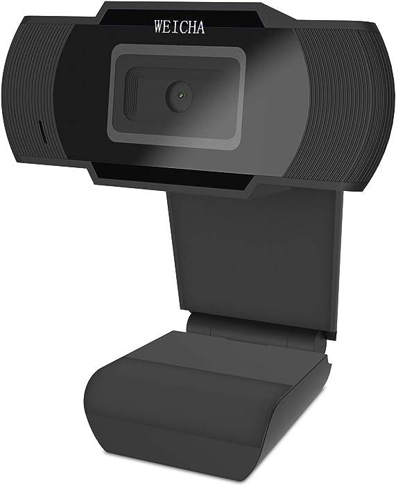 1080P HD Webcam with Microphone, Webcam for Gaming Conferencing, Laptop or Desktop Webcam, USB Computer Camera, Free-Driver Installation Fast Autofocus Black