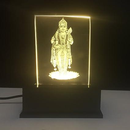 Gondget God Murugan Car Dashboard Idol With Yellow Lights Amazon In