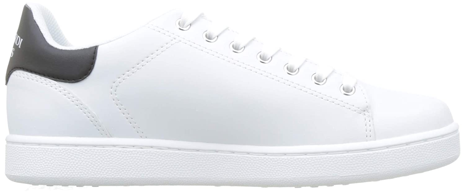 8.5 US White Trussardi Sneaker Synthetic Leather 77A00173 42 M EU