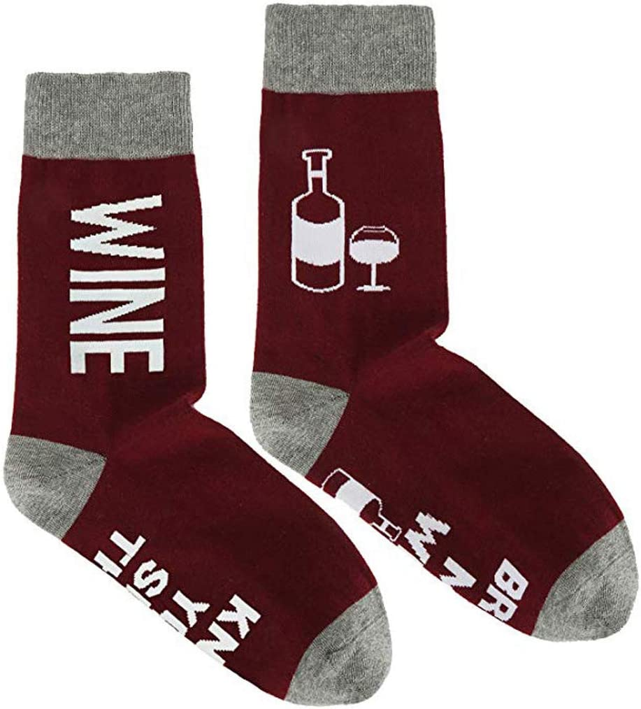 Calze Natalizie da Donna Unisex Vaeiner con Scritta Divertente in Inglese If You Can Read Tacos Wine Beer