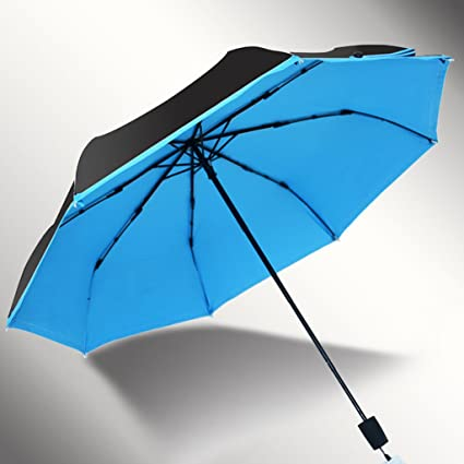 Paraguas plegables Paraguas plegable mini tres sombrilla paraguas UV paraguas (Color : A)