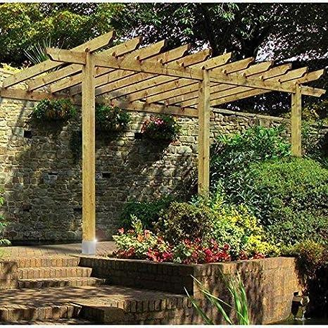 XFACTOR DEAL LIMITED Lean to Pergola jardín de Madera Patio ...