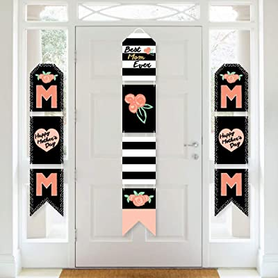 Big Dot of Happiness Best Mom Ever - Hanging Vertical Paper Door Banners - Mother's Day Party Wall Decoration Kit - Indoor Door Decor: Health & Personal Care