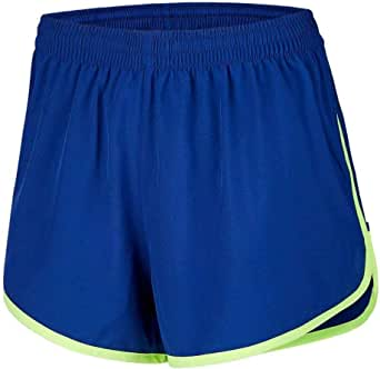 Desirable Time Women Running Shorts Loose Athletic with Pockets Breathable Waistband Workout