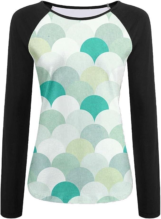 MASDUIH 3D Print Colorful Squares Long Sleeve Shirt Baseball Shirt
