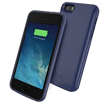 Scheam Funda iPhone SE 5SE 5 5S 4000mAh Estuche batería Delgado Funda Backup Cargador Batería Charging Case Carcasa Portable Power Bank a Prueba de ...