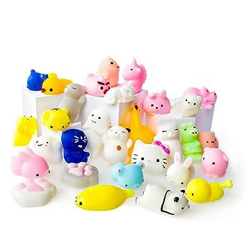Juguetes Mochi Squishys - Pack De 30 Squishys - Gato Mochi Squishy, Squishy Panda, Animales Mochi - Squishys Kawaii Jumbo - Squishys Para Llavero ...