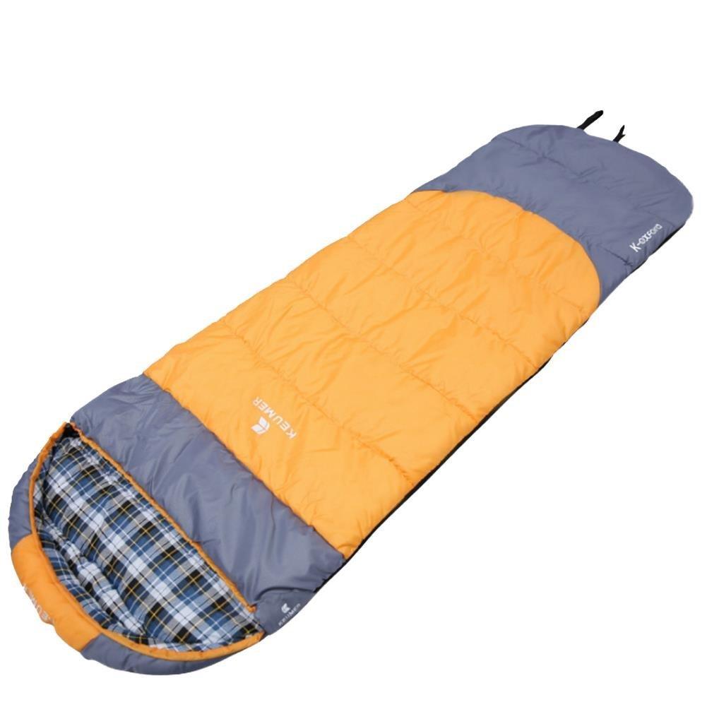 3 Farben Schlafsack Erwachsene Baumwolle Vier Jahreszeiten Camping Schlafsack Umschlag dicker mit California Style  rutschsicher, Orange