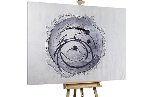 Kunstloft® Extraordinario Cuadro al óleo Elegancia Gris ...