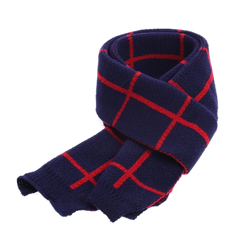 Baby Scarf,amazingdeal Boys Girls Plain Thicken British-style Warm Winter Scarves(Red)