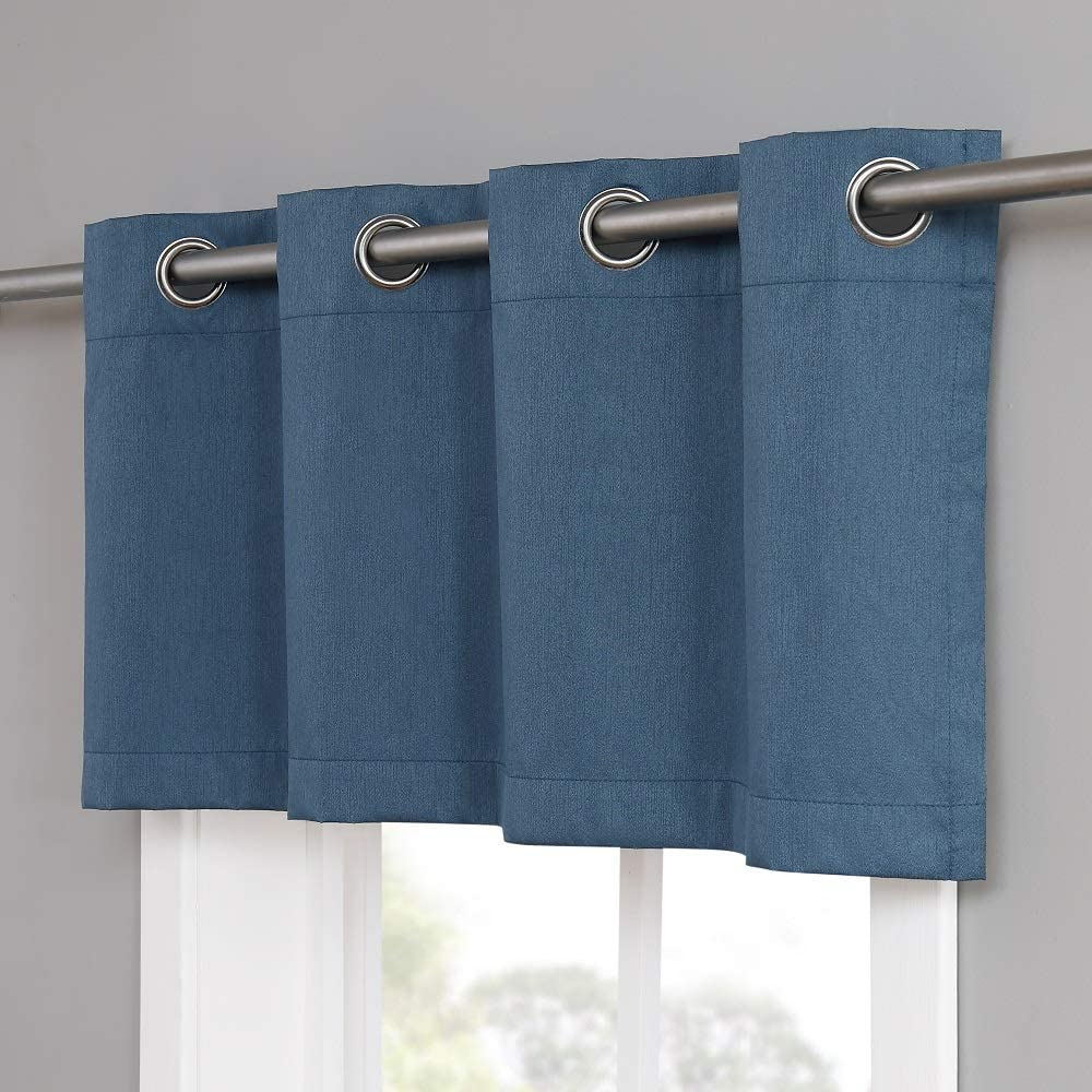 Kitchen Or Bathroom Windows MA Ivory Valance Warm Home Designs 1 White Ivory Color 54 x 18 Wide Size 100/% Blackout Matching Textured Valance Scarf Top for Bedroom