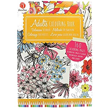 Adult Colouring Book 160 Pages Of Creative Art Therapy Patterns For Anti Stress By Deco