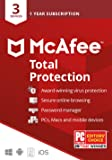 McAfee Total Protection 2020, 3 Device, Antivirus Internet Security Software, Password Manager, Privacy, 1 Year - Key…