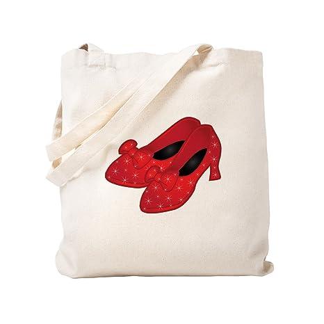 CafePress - Bolsa de zapatillas rojas de rubí, lona, caqui ...
